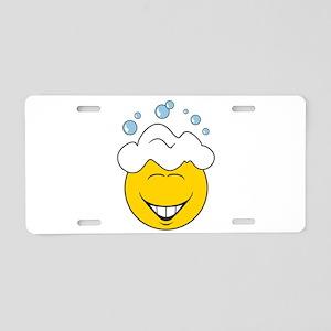 Bath Time Bubbles Smiley Face Aluminum License Pla