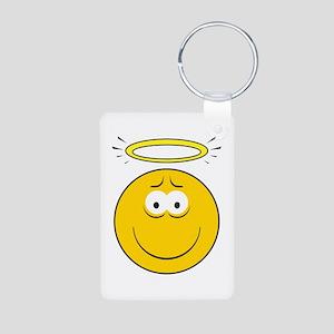 Angel Smiley Face Aluminum Photo Keychain