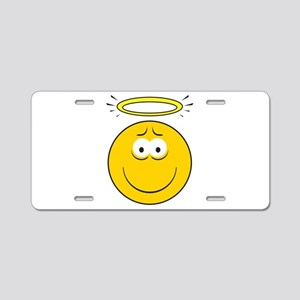 Angel Smiley Face Aluminum License Plate
