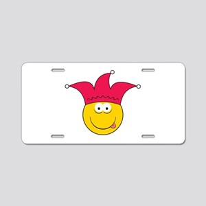 Jester Smiley Face Aluminum License Plate