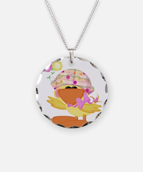 Cute Baby Girl Ducky Duck Necklace