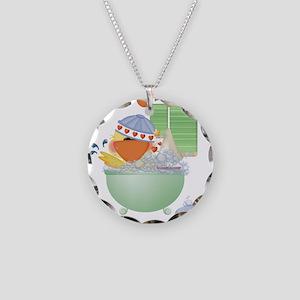 Cute Bathtime Ducky Necklace Circle Charm