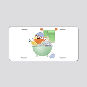 Cute Bathtime Ducky Aluminum License Plate