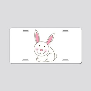 Cute Happy Easter Bunny/Bunni Aluminum License Pla