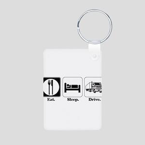 Eat. Sleep. Drive. (Truck Dri Aluminum Photo Keych