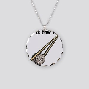How I Roll (Sushi Roll) Necklace Circle Charm