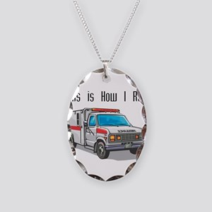 How I Roll (Ambulance) Necklace Oval Charm