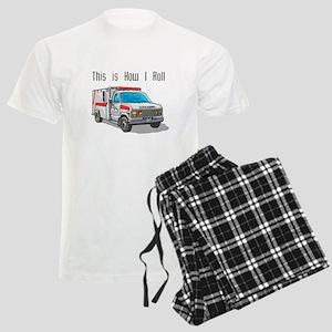 How I Roll (Ambulance) Men's Light Pajamas