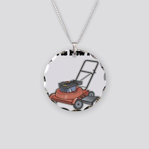 How I Roll (Lawn Mower) Necklace Circle Charm