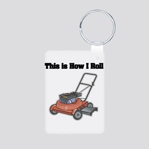How I Roll (Lawn Mower) Aluminum Photo Keychain
