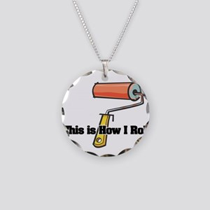 How I Roll (Paint Roller) Necklace Circle Charm
