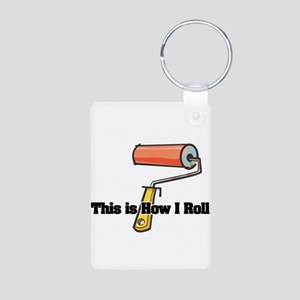 How I Roll (Paint Roller) Aluminum Photo Keychain