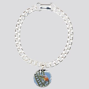 How I Roll (Roller Coaster) Charm Bracelet, One Ch