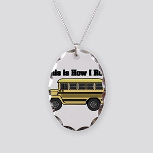 How I Roll (Short Yellow Scho Necklace Oval Charm