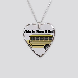 How I Roll (Short Yellow Scho Necklace Heart Charm