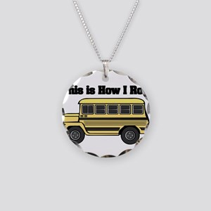 How I Roll (Short Yellow Scho Necklace Circle Char
