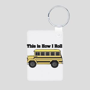 How I Roll (Short Yellow Scho Aluminum Photo Keych