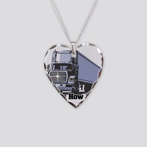 How I Roll (Tractor Trailer) Necklace Heart Charm