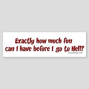 Exactly how much fun... Bumper Sticker