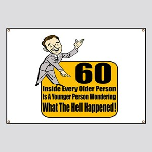 funny 60th birthday for men banners cafepress