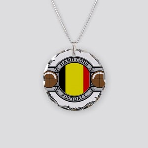Belgium Football Necklace Circle Charm