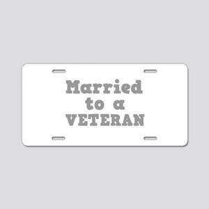 Married to a Veteran Aluminum License Plate
