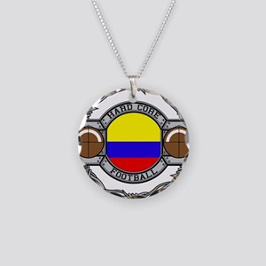 Colombia Football Necklace Circle Charm