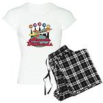 Retro Atomic Billiards Pool H Women's Light Pajama