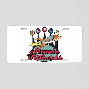 Retro Atomic Billiards Pool H Aluminum License Pla