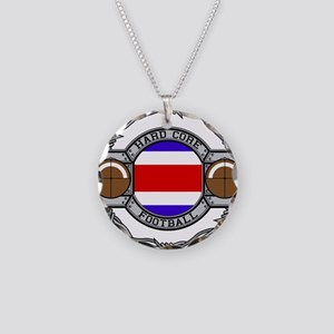 Costa Rica Football Necklace Circle Charm