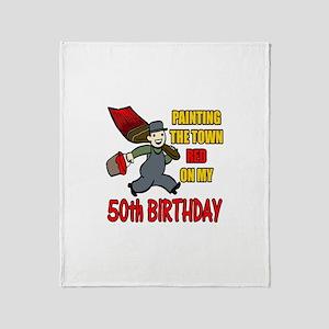 50th Birthday Throw Blanket