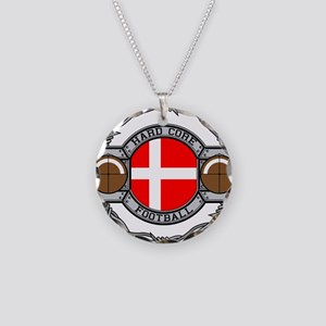 Denmark Football Necklace Circle Charm