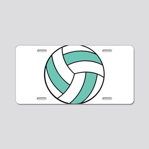 Funny Volleyball Belly Aluminum License Plate