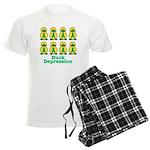 Depression Awareness Ribbon D Men's Light Pajamas