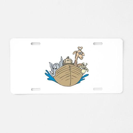 Cute Noah's Ark Design Aluminum License Plate