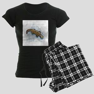 Australian Duckbill Platypus Women's Dark Pajamas