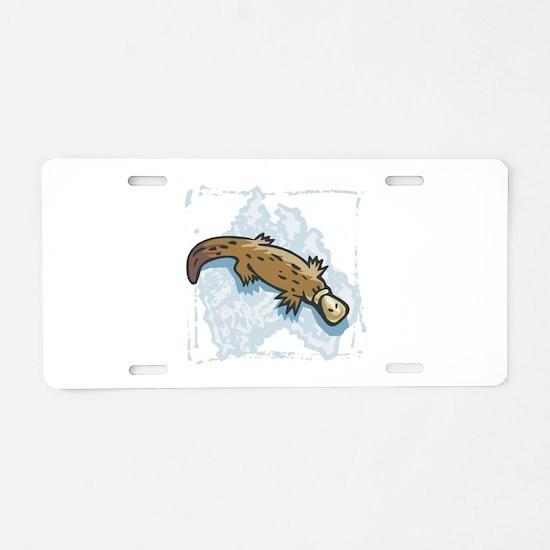 Australian Duckbill Platypus Aluminum License Plat