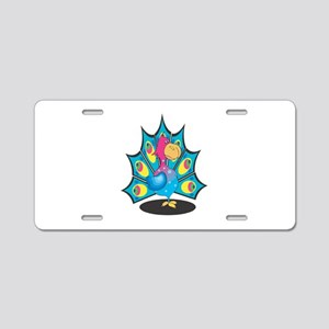 Cute Colorful Peacock/Peafowl Aluminum License Pla