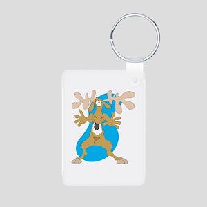 Silly Moose Aluminum Photo Keychain