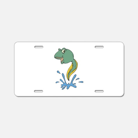 Cute Leaping Tadpole Aluminum License Plate