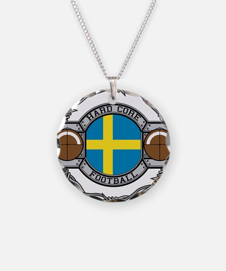 Sweden Football Necklace