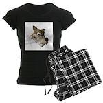 Funny Wolf Face Women's Dark Pajamas