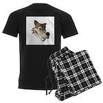 Funny Wolf Face Men's Dark Pajamas