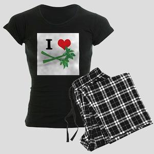 I Heart (Love) Celery Women's Dark Pajamas