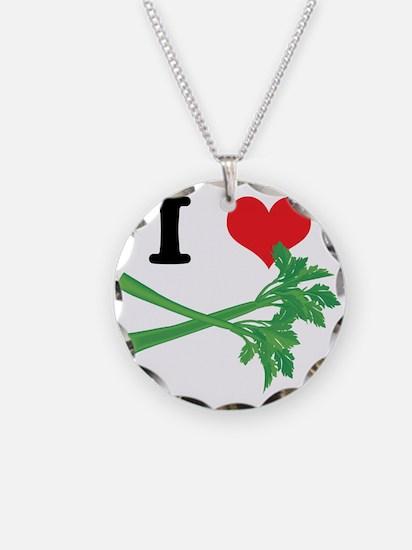 I Heart (Love) Celery Necklace