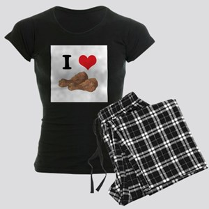 I Heart (Love) Chicken (Drums Women's Dark Pajamas