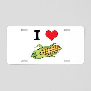 I Heart (Love) Corn (On the C Aluminum License Pla