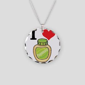 I Heart (Love) Mayonnaise (Ma Necklace Circle Char