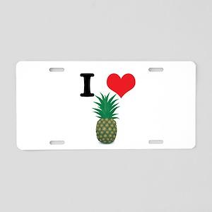 I Heart (Love) Pineapple Aluminum License Plate
