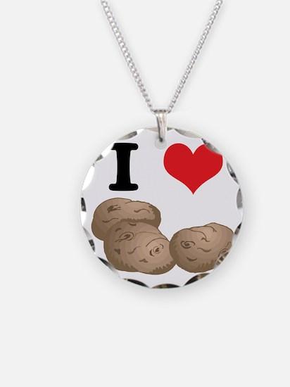 I Heart (Love) Potatoes Necklace